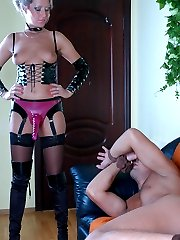 Strap-on armed babe gets a guy�s piece of ass while taking out her weapon