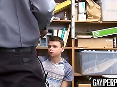 DP fucked twink gets penalized for stealing with his father