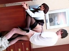 Lusty mature gal putting her ass in the air for mighty dicking of young guy