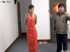 Japanese girl in restrain bondage