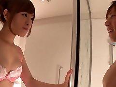Fabulous Japanese chick Minami Kiritani in Naughty couple, showers JAV scene