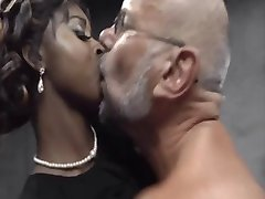 ebony slut and blonde girl fuck older man