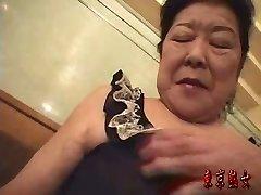 Asian grandmother enjoying sex