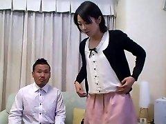 Tomomi Shimazaki Romped in front of Husband (Uncensored)