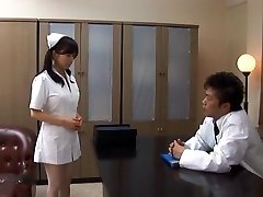 Doctor Has Hina Hanamis Cock-squeezing Nurse Pussy To Penetrate