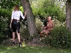 Dominatrix Danielle Maye tears up her Submissive before Ass Fuc
