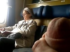 Train Dick flash to Mature - with Jizz