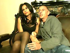 19yr old Flawlessly Beautiful Transsexual Dom in Part 2 of the League