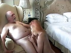 Red-haired tranny fucking with a old man