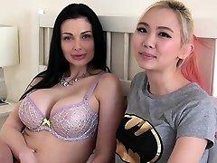 Aletta Ocean has g/g sex with busty asian nubile