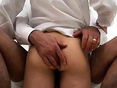 Gay man instructing boy how to gargle cock Elders Garrett