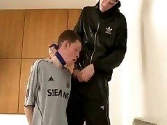 chav dominates a soccer boy