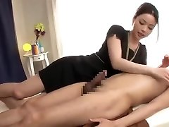 A relaxing massage with a ... very long spunk fountain!