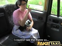 FakeTaxi Dark Brown with glasses pays the price for being rude