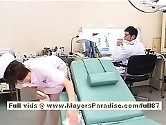 Akiho Yoshizawa Sexy infermiera Asiatica gode di prendere in giro il medico