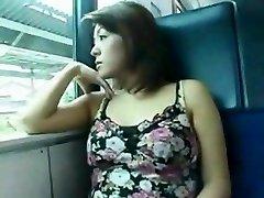 oriental fuck in the train