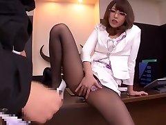Best Japanese slut Ayu Sakurai in Exotic stockings, handjobs JAV episode