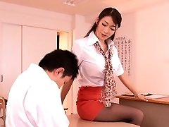 Giapponese, insegnante milf seduce studente