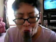 Kinijos Milf čiulpia juoda gaidys daug kartų