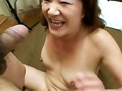 Asian Granny Enjoys Young Dick