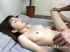 Asian guy licking super hairy poon