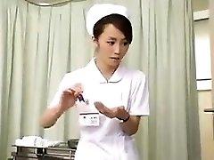 Nurses strain man-meat that is dark-hued