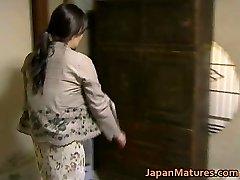 Japanese COUGAR has crazy sex free jav