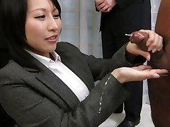 Amazing Japanese tramp Yuuna Hoshisaki in Greatest JAV uncensored Handjobs clip