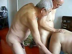 2 grandfathers fuck grandpa