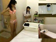 Rubdown covert camera filmed a slut giving handjob