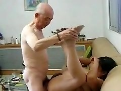Chinese Granny Neighbour Gets Boned by Chinese Granddad