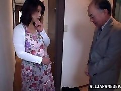 Hot Japanese model gets poked in all her fuck holes