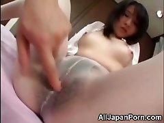 Japonaise en Collants Blanc!