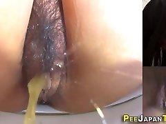 Asian nubiles muff pissing
