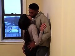 Korean student making out with her first ebony guy.