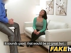 Fake Agent Gigantic boobs Japanese wants rock-hard fuck on the casting couch