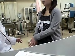 Busty doc pummels her Jap patient in a medical fetish vid