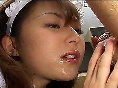 Asian maid satiates her boss