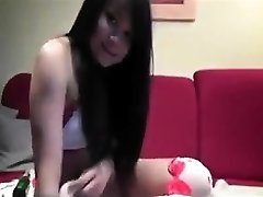 AmateurHot Chinese Bottles Her Arse On Web Cam