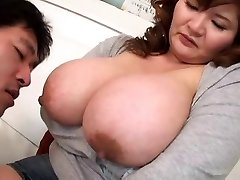 Sucking Japanese Boobs