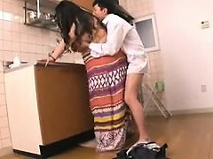 Chunky Oriental housewife gets nailed hard by her paramour in
