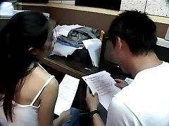 Taiwanese couple take a examine break