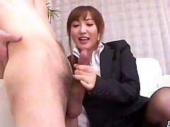 Mami Asakura office venture with her chief
