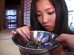 Subtitled Japanese CMNF schoolgirl twenty marbles injection