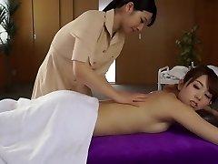 Best Japanese bi-atch Ai Uehara, Yui Hatano in Fabulous massage, lesbian JAV vid