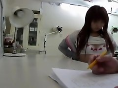 Doctor.s vibrator made this Asian honey get an orgasm