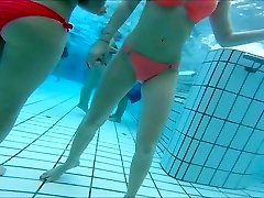sexy asian and  teen girls super-cute  cabooses at pool