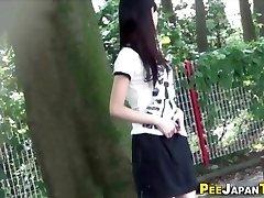 Japanese nubile urinate public