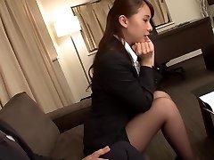 Cool Japanese girl Yui Oba in Crazy finger-banging, stockings JAV video