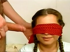 Blindfolded Biotch Gobbles A Stiff Wang